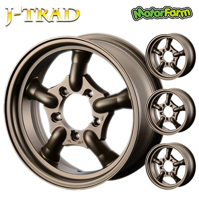 J-TRAD マットブロンズ 16×5.5J/5H+20 4本SET