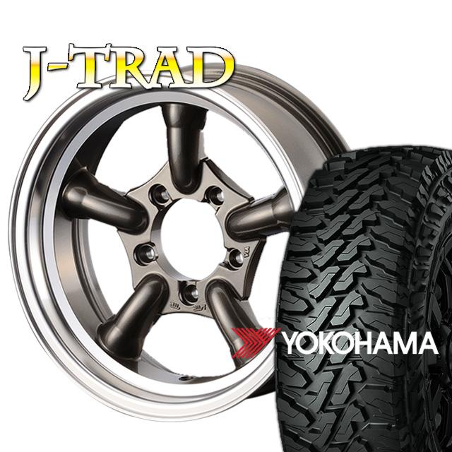 タイヤ ホイール 4本セット ファーム オリジナル J-TRAD DCリム ガンメタリック 16×5.5J/5H-25 ヨコハマ ジオランダー MT G003 6.50R16 ( yokohama geolandar マッドテレイン )