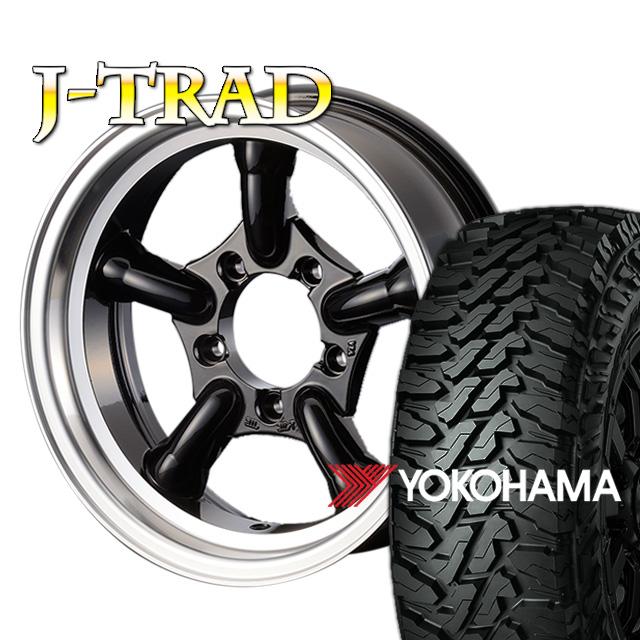 J-TRAD グロスブラック DCリム 16×5.5J/5H-25 ヨコハマ ジオランダー MT G003 185/85R16 ( yokohama geolandar マッドテレイン )