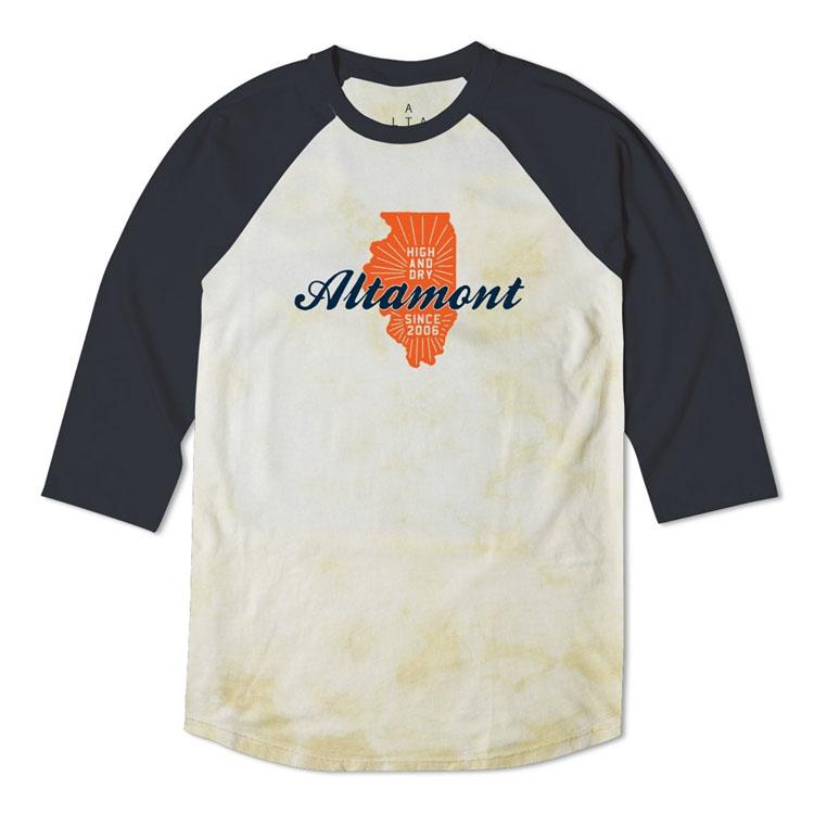 ALTAMONT High and Dry State Raglan Tee Beige オルタモント ハイアンドドライ ステート ラグラン Tシャツ ベージュ