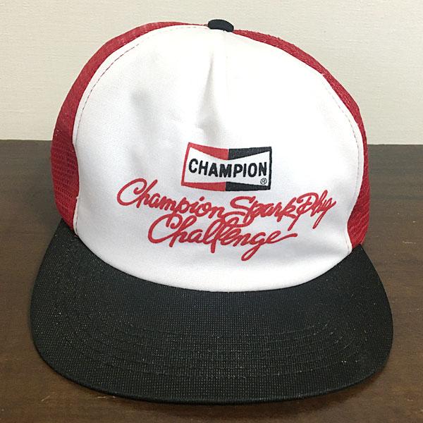 f900fbaa58ab8 auc-motor-music  Champion spark plug vintage cap red   white   black  CHAMPION SPARK PLUGS Vintage Cap Red White Black