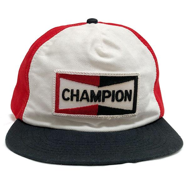 87cfd3c04dce7 Champion spark plug vintage cap red   white   black CHAMPION SPARK PLUGS  Vintage Cap Red White Black