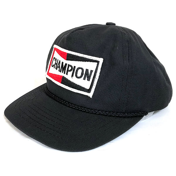 8591932077f54 Champion spark plug vintage cap black CHAMPION SPARK PLUGS Vintage Cap Black