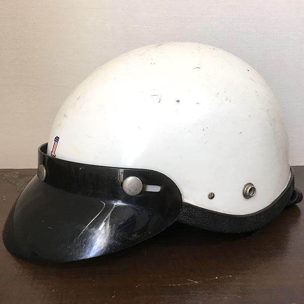ハーレーダビッドソン 純正 ハーフヘルメット モデルH ホワイト Harley Davidson Half Helmet White MODEL H AMF No1 #1