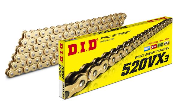 【送料無料】 DIDチェーン VXシリーズ 520VX3(110) ゴールド