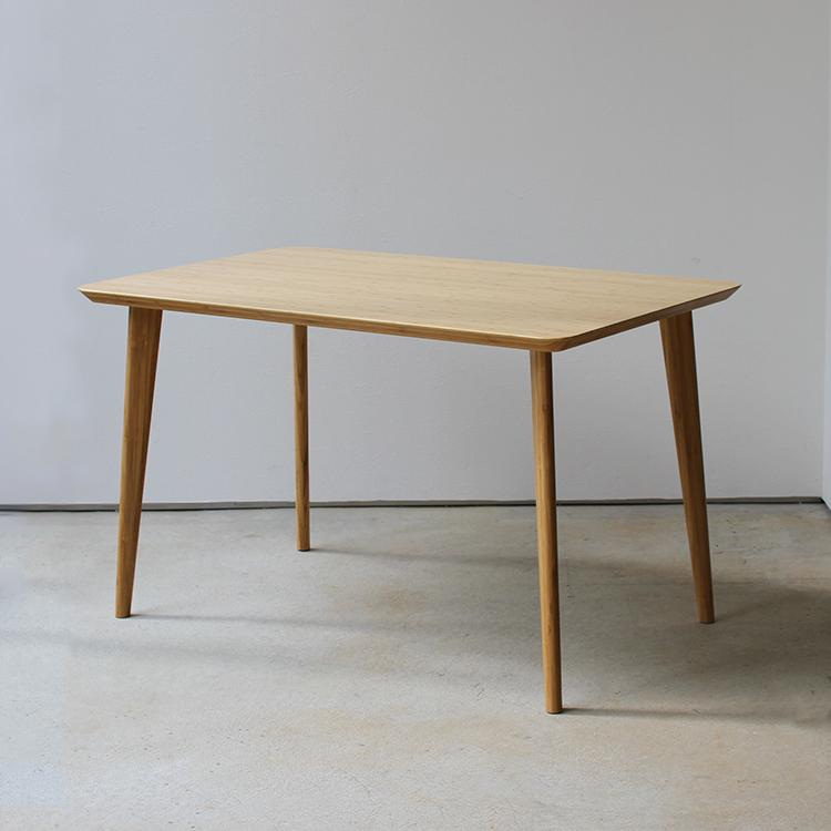 バンブー ダイニングテーブル W1200 長方形 4名用 竹製 MTS-084