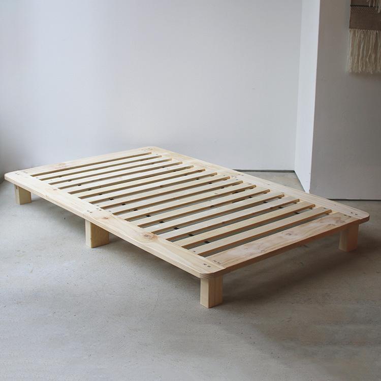 ベッド SD 安い おしゃれ おすすめ 脚付き 木 通気性 天然木 ナチュラル ヘッドなし ヘッドボードなし 掃除しやすい ミニマル SALE開催中 ヘッドレス 木製 W123 分解しやすい ベッドフレーム シンプル 幅123cm セミダブル 捧呈 きしまない MTS-098 木材 無垢材 すのこ