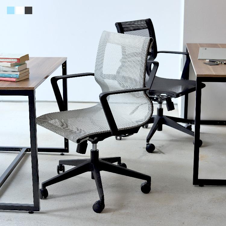 デスクチェア オフィスチェア アレン BK GY BL 昇降機能 キャスター付き 回転椅子 MTS-134
