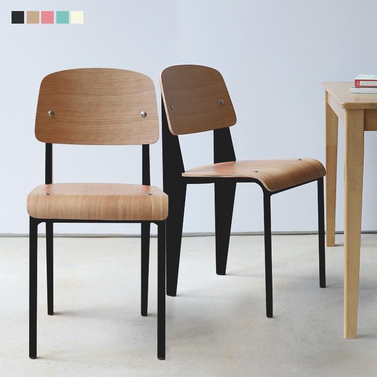 スタンダードチェア リプロダクト Standard chair ジャン プルーヴェ BK VA 在宅ワーク DP デザイナーズ家具 お中元 在宅勤務 ラッピング無料 2脚セット テレワーク PG MTS-139