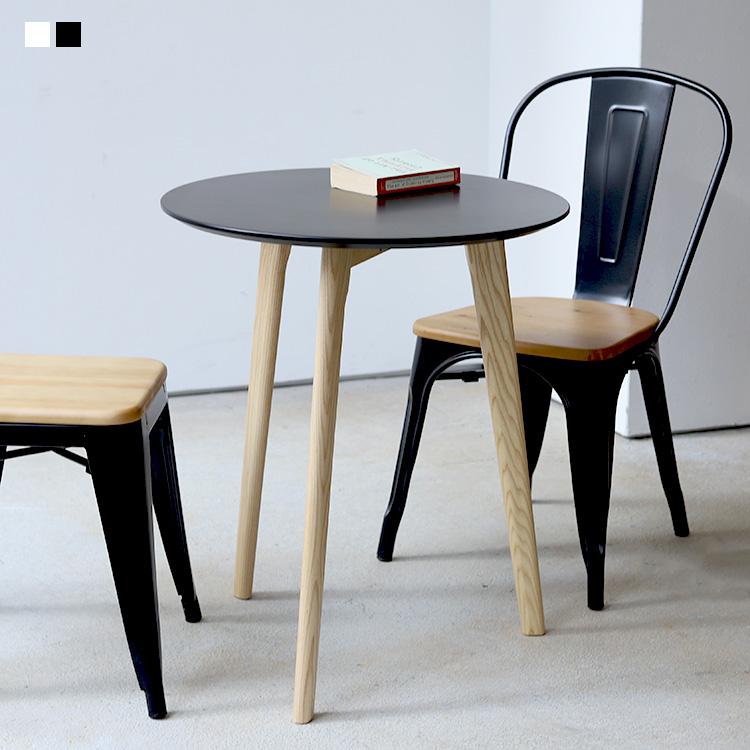 カフェテーブル ミニマム サイドテーブル ラウンドテーブル 激安 丸テーブル φ60 600mm MTS-145 ミニテーブル BK 木製 WH 特価品コーナー☆