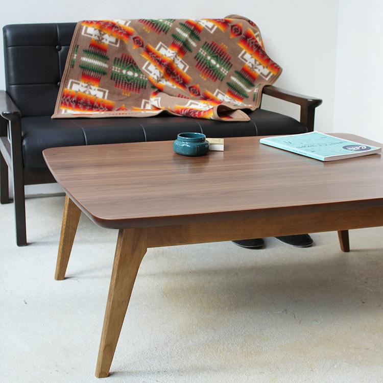 こたつテーブル ケニー 105×75cm 北欧 デザイン ウォルナット 本体 105WALN
