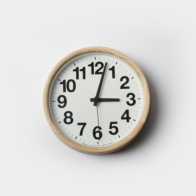 Clock A / ナチュラル YK14-05 時計 掛け時計 Lemnos レムノス