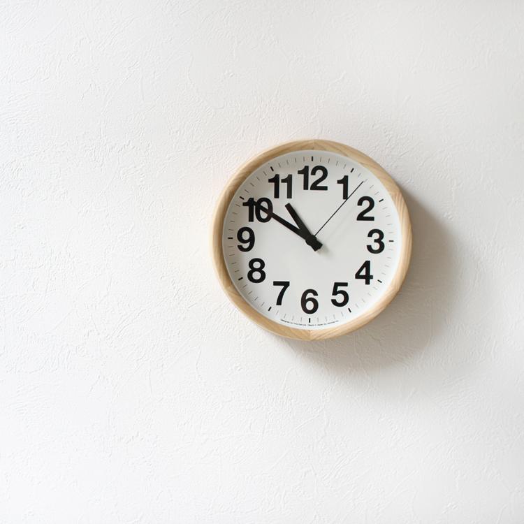 YK14-05 ナチュラル ブラック 時計 掛け時計 Lemnos レムノス