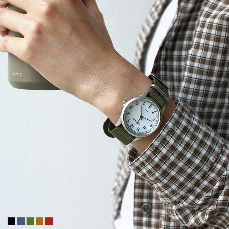腕時計 JEANS REPLACEBLE WATCH TIDEWAY タイドウェイ 日本製 レザーベルト ナイロンベルト 2WAY フリーサイズ