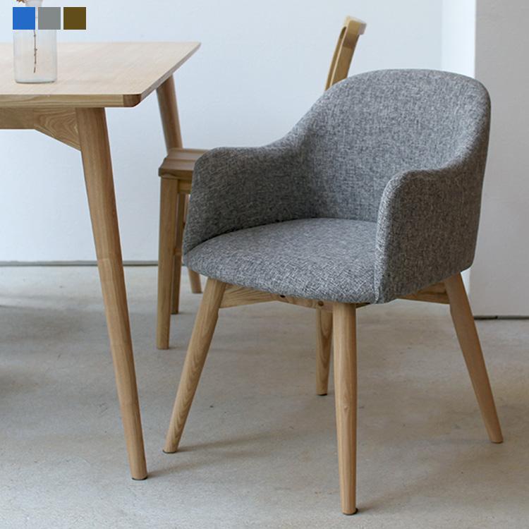イス 椅子 いす ダイニングチェア 北欧 ナチュラル シンプル ファブリック 布張り 生地 ブルー ブラウン グレー おしゃれ 【5日はポイント最大+36倍!!エントリー必須】カラメリダイニングチェア 椅子 KRM-010 BR GY BL Karameri dining chair 東谷 room essence