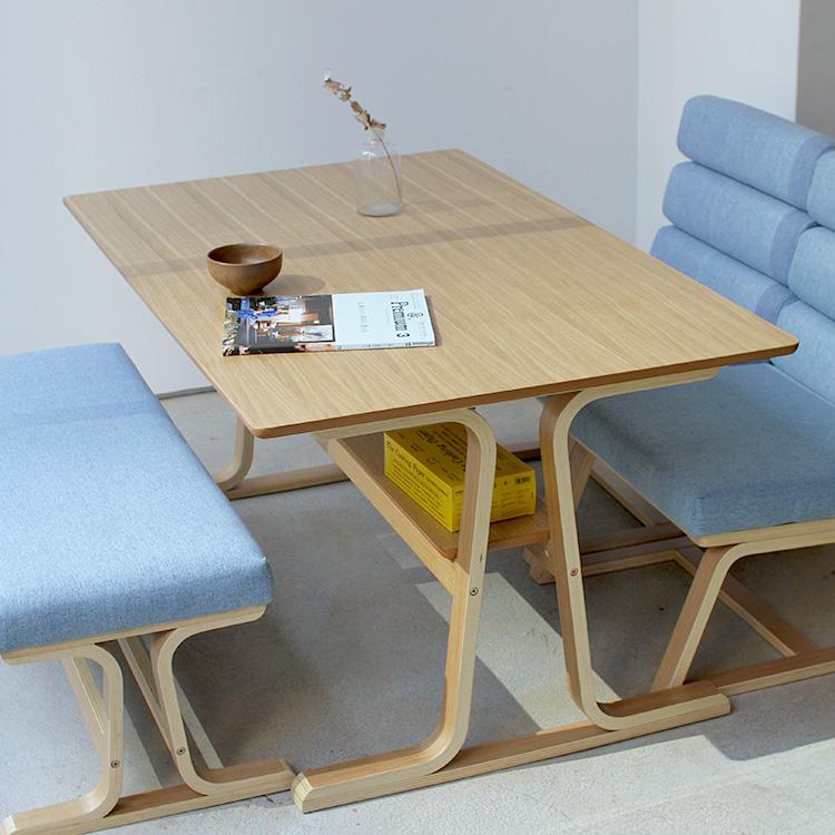 ダイニングテーブル VET-333TNA ナチュラル ロータイプ 東谷 ROOM ESSENCE 高さ63cm リビングダイニングテーブル 高さ60~65cm