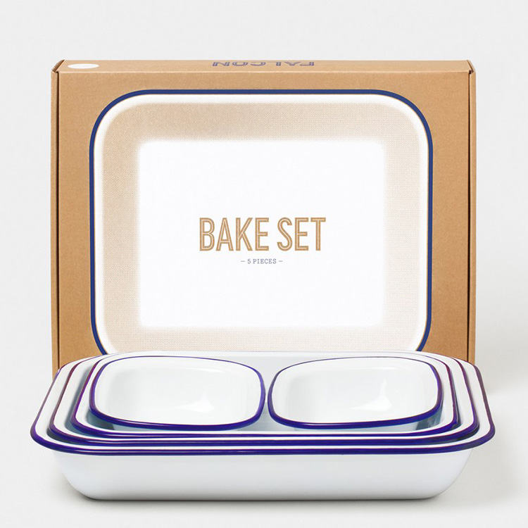FALCON BAKE SET 5枚組 ファルコン ベイクセット Original White with Rim ホワイト