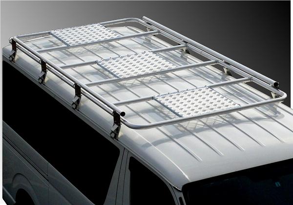 200系ハイエース用MSCオリジナルアルミルーフキャリア2.8m 200系ハイエースバン標準用 2.8m 耐加重200KG プロ仕様 2.1m立体駐車場OK オール溶接一体型 低床タイプ