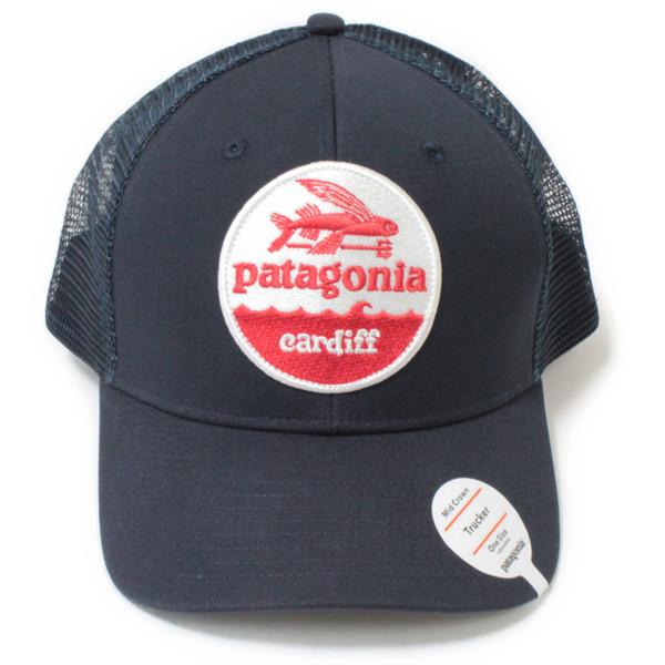 海外限定パタゴニアハットパッチトラッカーハット カーディフ限定紺PATAGONIAHATPATCHTRUCKERHATCARDIFFNVYB帽子メッシュキャップ新品 10406c6aa5d0