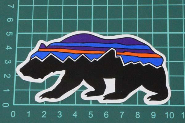 42b54eb11 Patagonia sticker Fitzroy base-up PATAGONIA FITZROY BEAR bear  クマベアーアニマルシールデカール STICKER bundling is possible