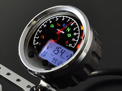 期間限定価格!ACEWELL多機能デジタルメーター/MA085シリーズ針式タコメーター搭載!オールインワンスピードメーター!マルチメーター