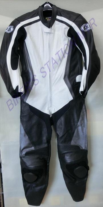 NEWモデル!SPEED OF SOUND革ツナギ レザースーツ SOS-18 ホワイトブラック選べる16サイズ!