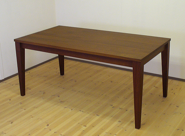 天然木ウォールナット無垢のダイニングテーブル 100cm×55cm 【送料無料】サイズ変更対応可能