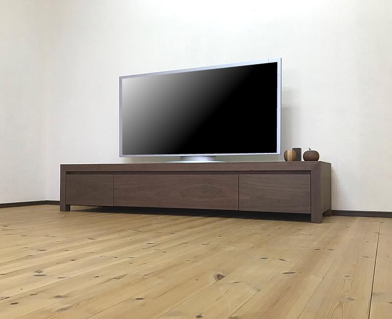 180cm ウォールナット天然木 テレビ台 Kariya 【完成品】【送料無料】