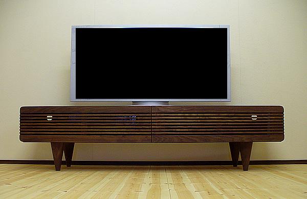 テレビボード tv34[MOCHA RISE] ローボード シンプル ウォールナット ミッドセンチュリー 送料無料 TVボード AVボード キャビネット 天然木 テレビラック テレビ台 オーダー家具対応 北欧テイスト リビングボード 無垢材