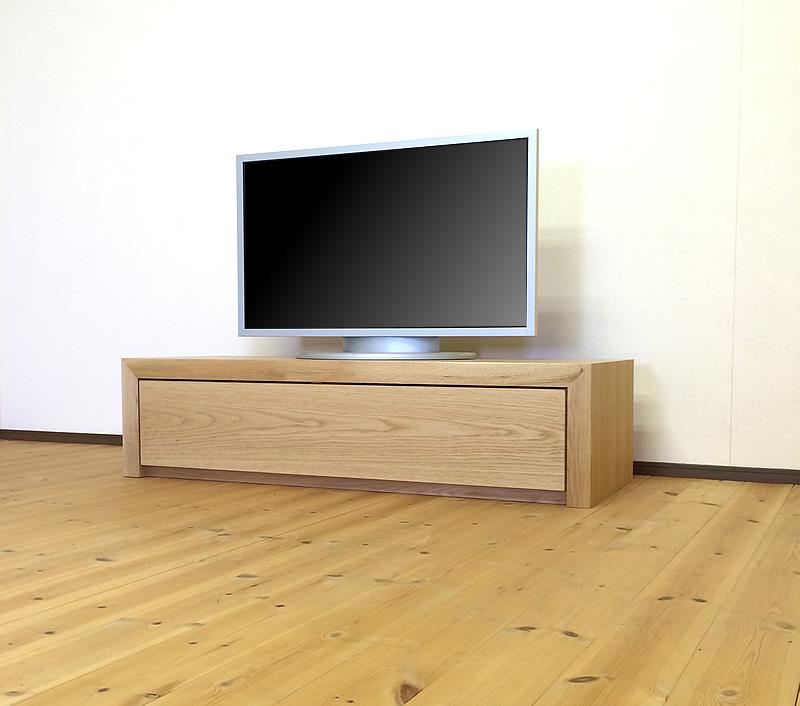 天然木オーク材のテレビ台120cm