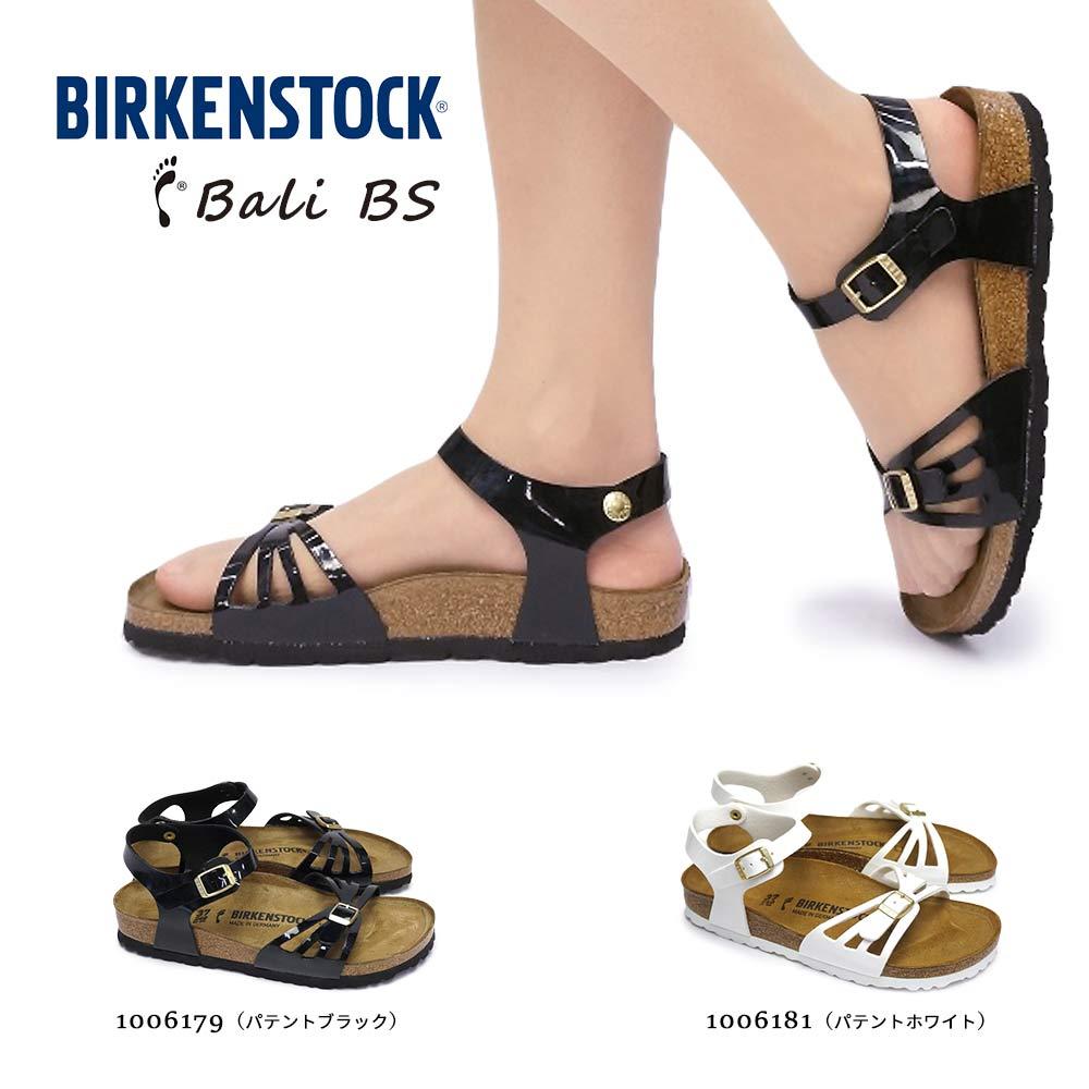 ビルケンシュトック Bali BS レディース サンダル エナメル パテント アンクルストラップ Birkenstock Bali BS 1006179 Patent Black 1006181 Patent White
