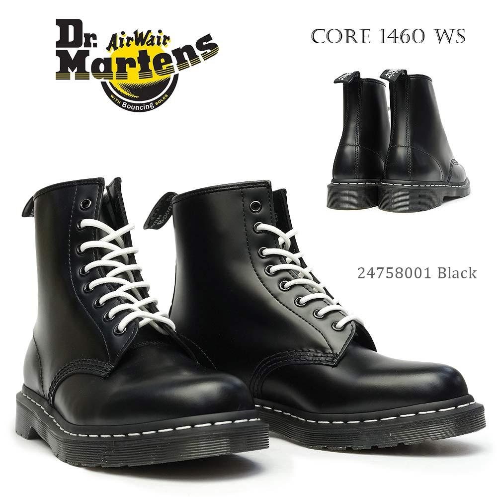 ドクターマーチン 8ホール ブーツ 1460WS ホワイトステッチ レディース メンズ ショート ワークブーツ 8アイ 正規品 Dr.Martens CORE 1460 WHITE STITCH 8EYE BOOT