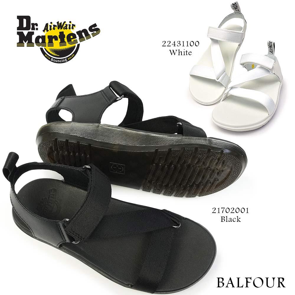 ドクターマーチン サンダル BALFOUR バルフォー レディース ストラップ Z型 ベルクロ レザー Dr.MARTENS BAY BALFOUR SANDALS