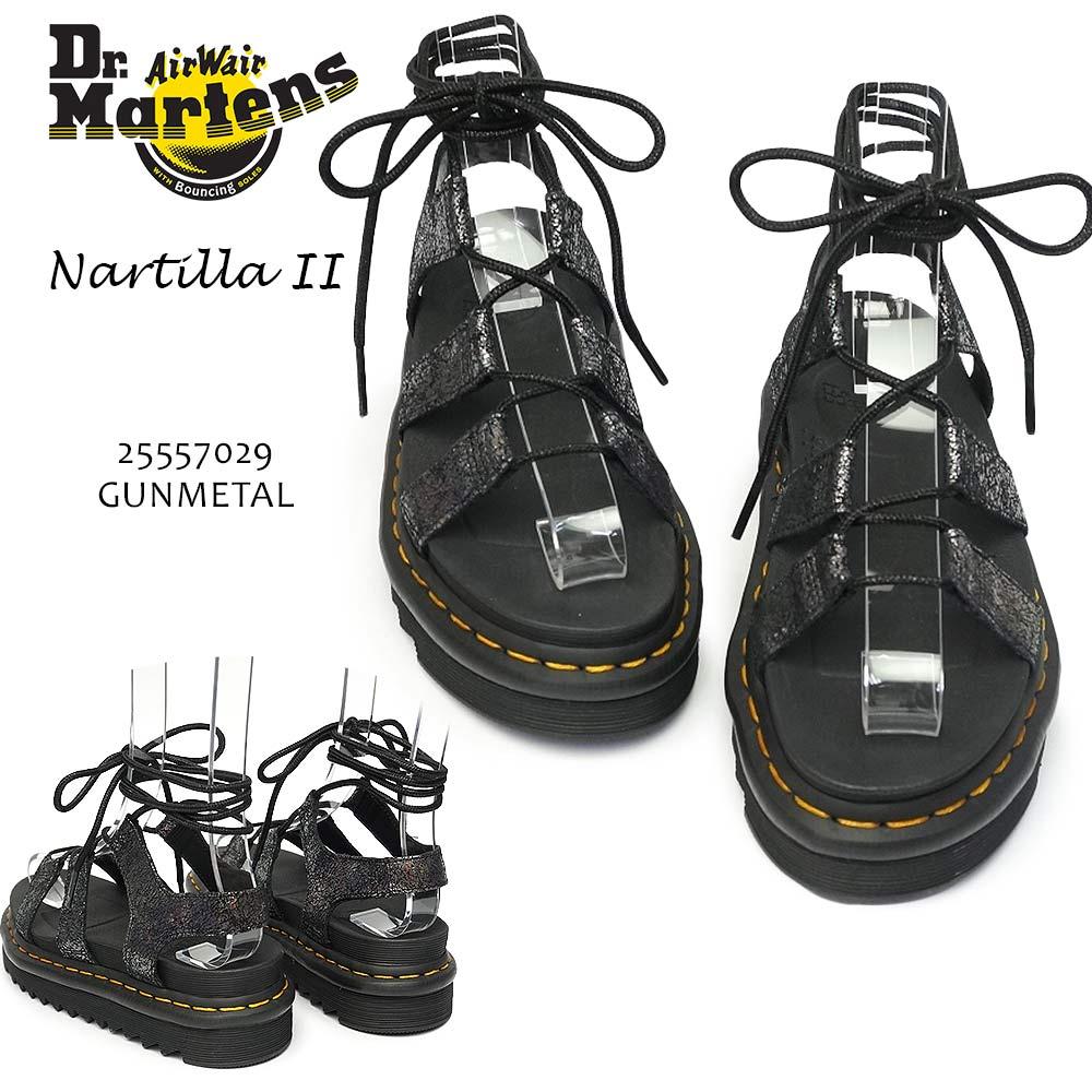 ドクターマーチン レディース サンダル NARTILLA2 ナルティラ2 レースアップ 編上げ レザー 厚底 正規品 本革 Dr.Martens ZEBRILUS NARTILLA II