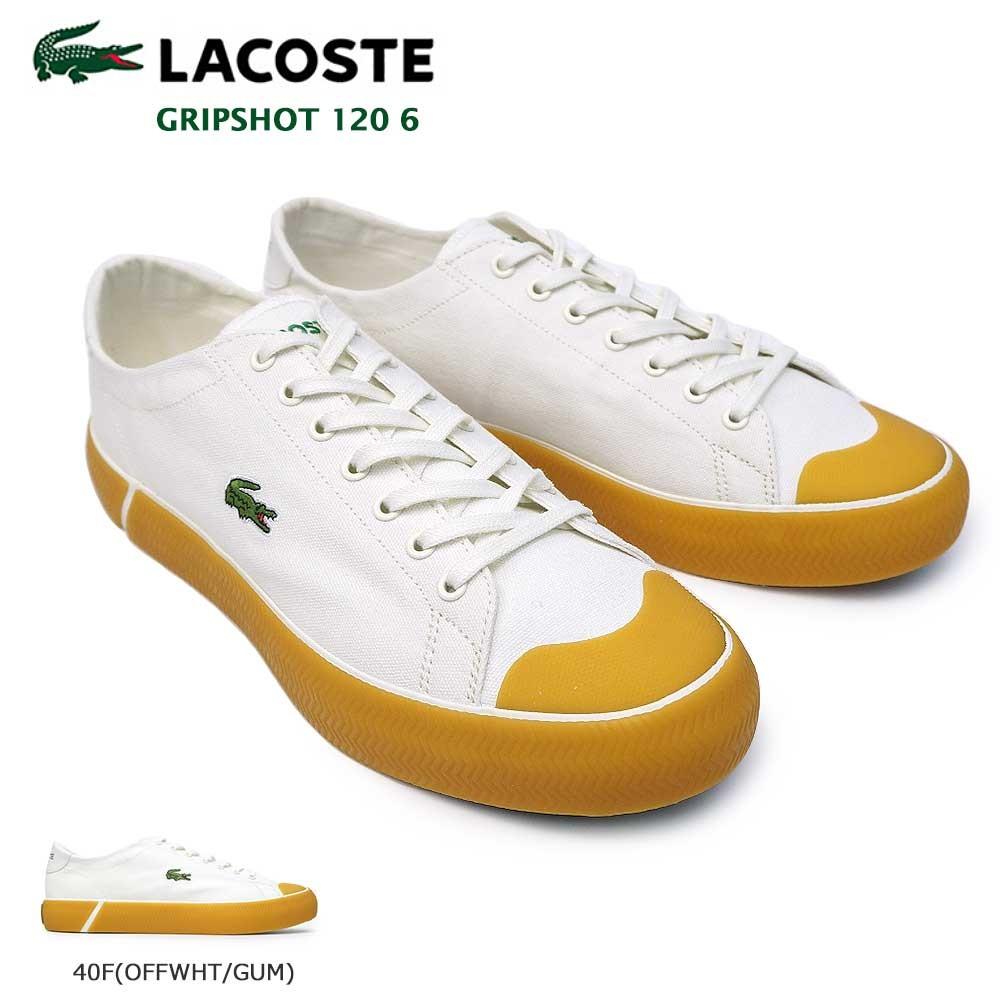 ラコステ スニーカー グリップショット 120 6 CMA0108 メンズ キャンバス テニスシューズ LACOSTE GRIPSHOT 120 6