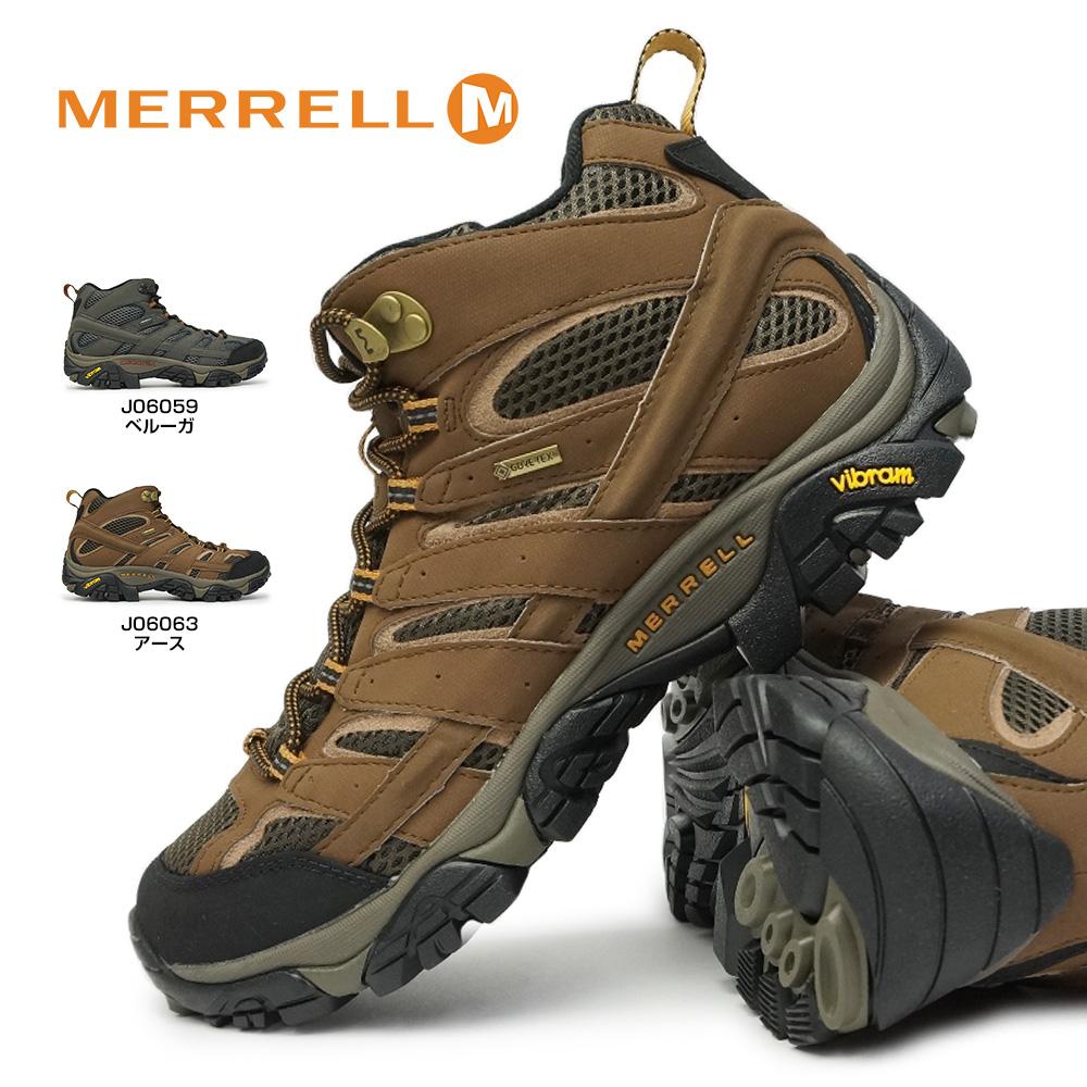 メレル モアブ 2 ミッド ゴアテックス メンズ 全天候型 防水 ハイキングシューズ トレッキングシューズ ミッドカット MERRELL MOAB 2 MID GORE-TEX