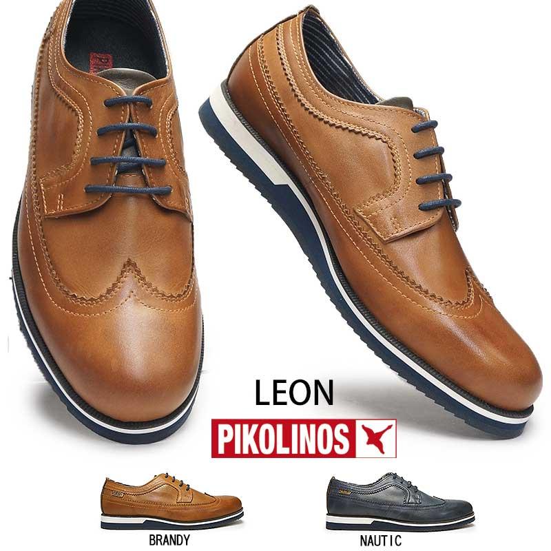 ピコリノス 靴 メンズ カジュアルシューズ M0K-4208 ウィングチップ PK322 ドレスカジュアル ビジネス PIKOLINOS Leon