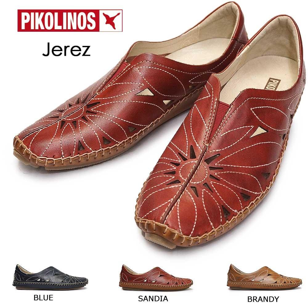 ピコリノス レディースカジュアルシューズ レザー 578-7399 PK611 スリッポン 本革 コンフォート PIKOLINOS Jerez