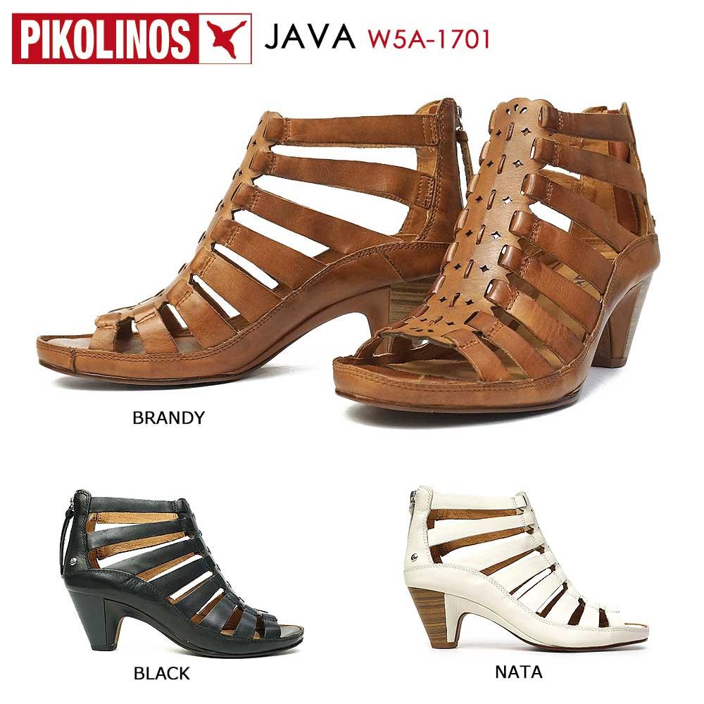 ピコリノス 靴 レディース サンダル PK843 W5A-1701 レザー ブーツサンダル 白 黒 ブラウン PIKOLINOS JAVA 本革 コンフォート