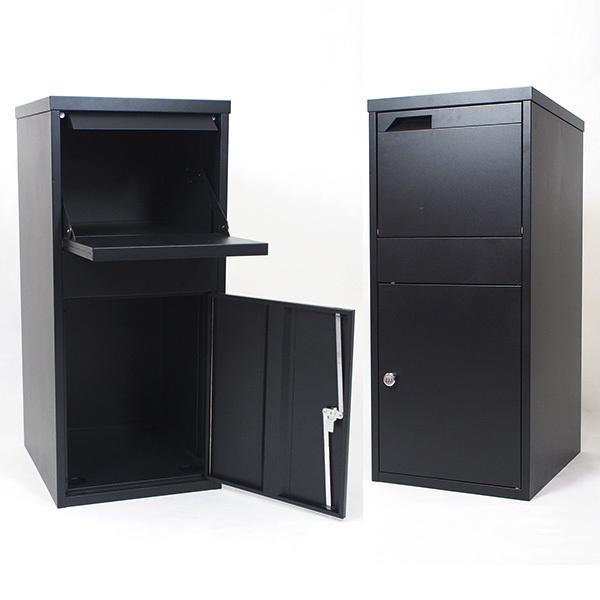 宅配ボックス 大型 高さ90cm ダイヤル錠付 荷物受け 郵便受け メールボックス 個人 家 一戸建て 保管 不在 置き型ポスト 宅配ボックスTHB003