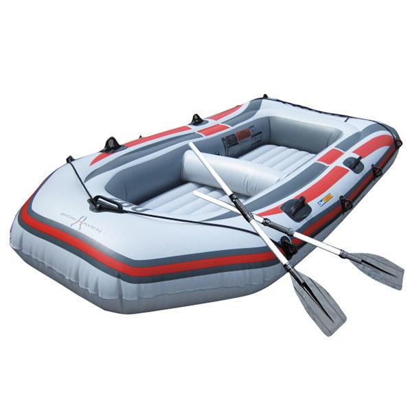 ゴムボート 3気室 構造 4人乗りゴムボート 海水浴 釣り オール2本セット ゴムボート236