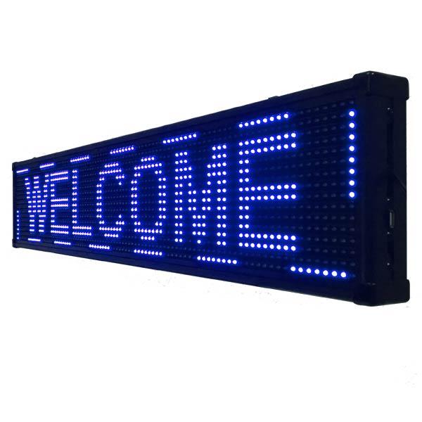 LED電光掲示板 LED看板 LEDポード 電光板 流れる 点滅 省エネ ディスプレイ LEDディスプレイ看板 100×20cm 選べるカラー LED看板D-U6A色