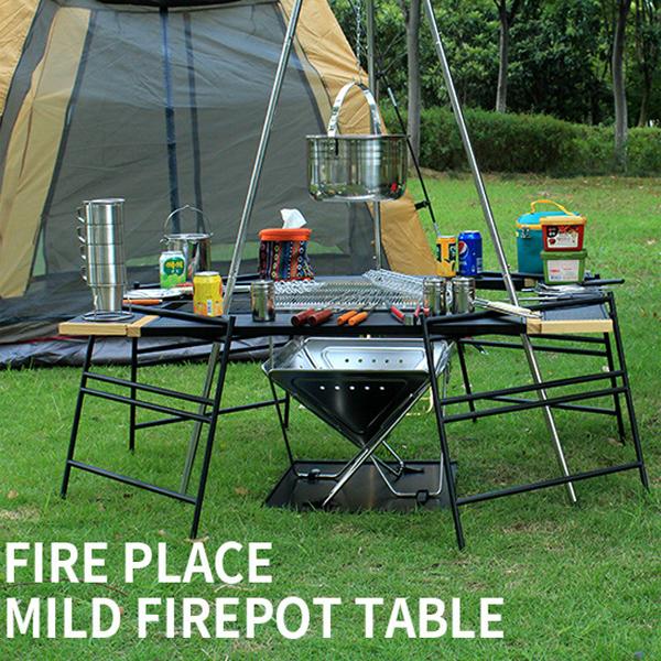 テキーラテーブル セット 変形自在 アウトドア テーブル テキーラプレート テキーラレッグ 木製 軽量 キャンプ用品 テーブルWZDZ-SET