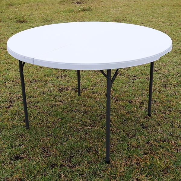 アウトドアテーブル 折りたたみ 頑丈 円形 幅120cm レジャーテーブル レジャー キャンプ アウトドア 海 海水浴 イベント テーブル 丸テーブル 折り畳み式 バーベキュー BBQ 外テーブル テーブルYS-ZY120