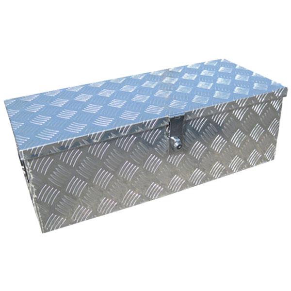 アルミ工具箱 ツールボックス アルミチェッカー製 おしゃれ アルミ 物置 工具箱 道具箱 収納箱 縞板風 760×340×250mm トラック 荷台箱 キャビネット 工具ボックスB1-732