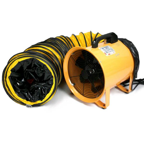 送風機 本体とホースセット ダクトホース5m付 250mm ファン 業務用 送風機本体(換気・送風・排気)SHT-250-BP(1)
