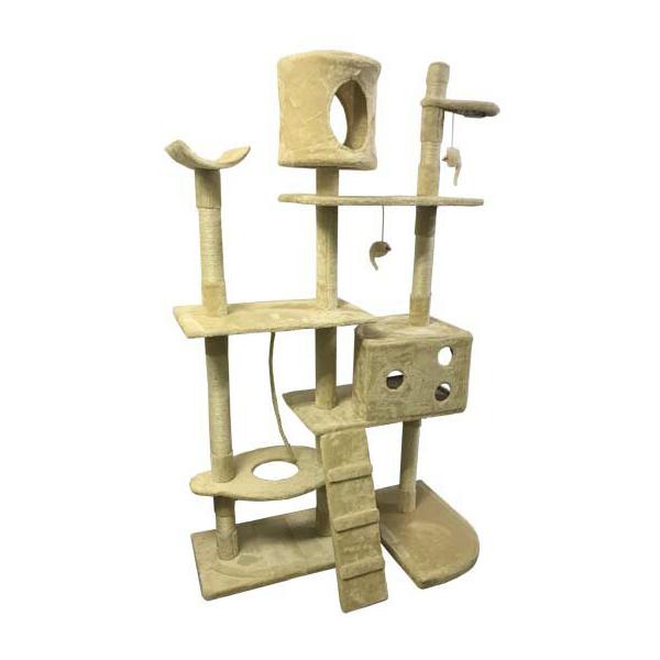 キャットタワー 高さ172cm ビッグサイズ 爪とぎ ネコ 猫タワー ペット 据え置き 組み立て 設置 多頭 猫 ねこ ペット ペット用品 ペットグッズ BCT8020-B★