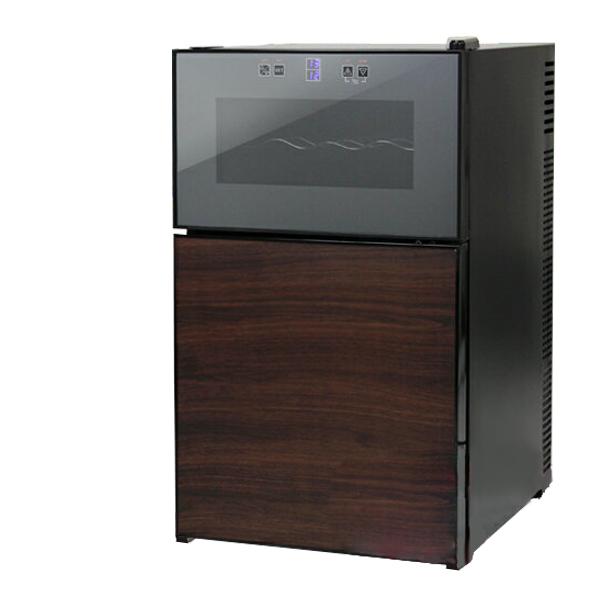 ワインセラー 8本収納 冷蔵庫付 1台2役 上下別温度設定 ペルチェ冷却方式 温度 タッチパネル式 LED表示 ワインクーラー ワイン庫 ワインセラBCWH69