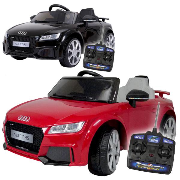 電動乗用カー 電動乗用ラジコンカー アウディTT RS Audi正規ライセンス 電動乗用玩具 スーパーカー 子供用 プロポ操作可能 クリスマス プレゼント 子供 乗用カーJE1198