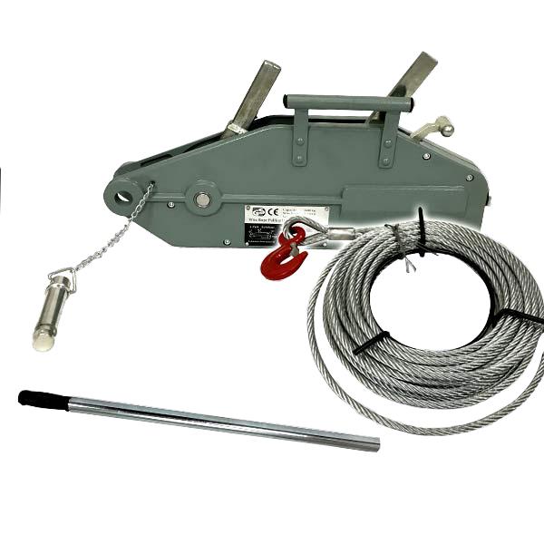 ハンドウインチ 1.6t 手動ウインチワイヤー ワイヤー20m チルホール ワイヤー付 横引き 吊り上げ ウインチ ウィンチ DIY 工具 ZNL-1600